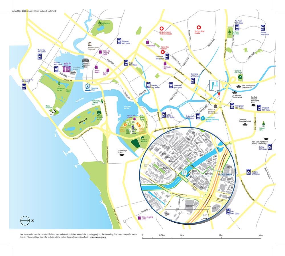 Jui Residences Condo Location Map
