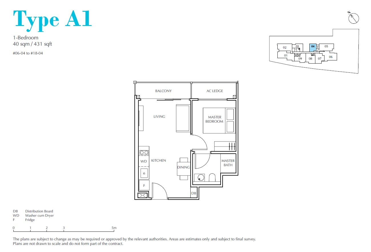 Jui Residences 1 Bedroom Type A1