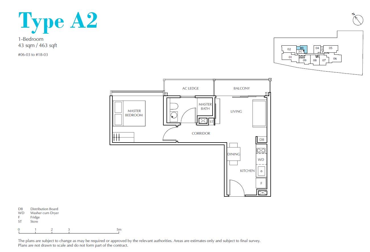 Jui Residences 1 Bedroom Type A2