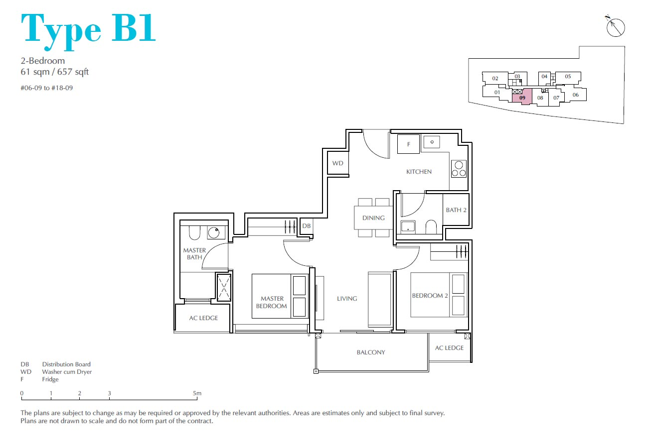 Jui Residences 2 Bedroom Type B1
