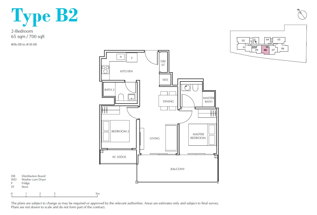 Jui Residences 2 Bedroom Type B2
