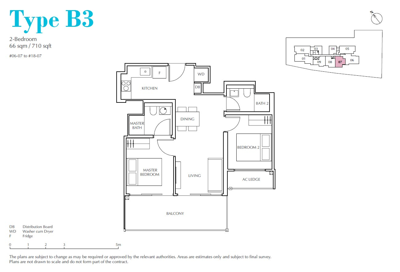 Jui Residences 2 Bedroom Type B3