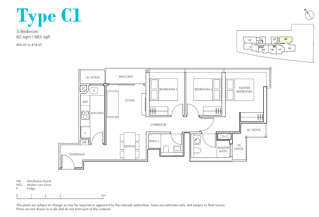 Jui Residences 3 Bedroom Type C1