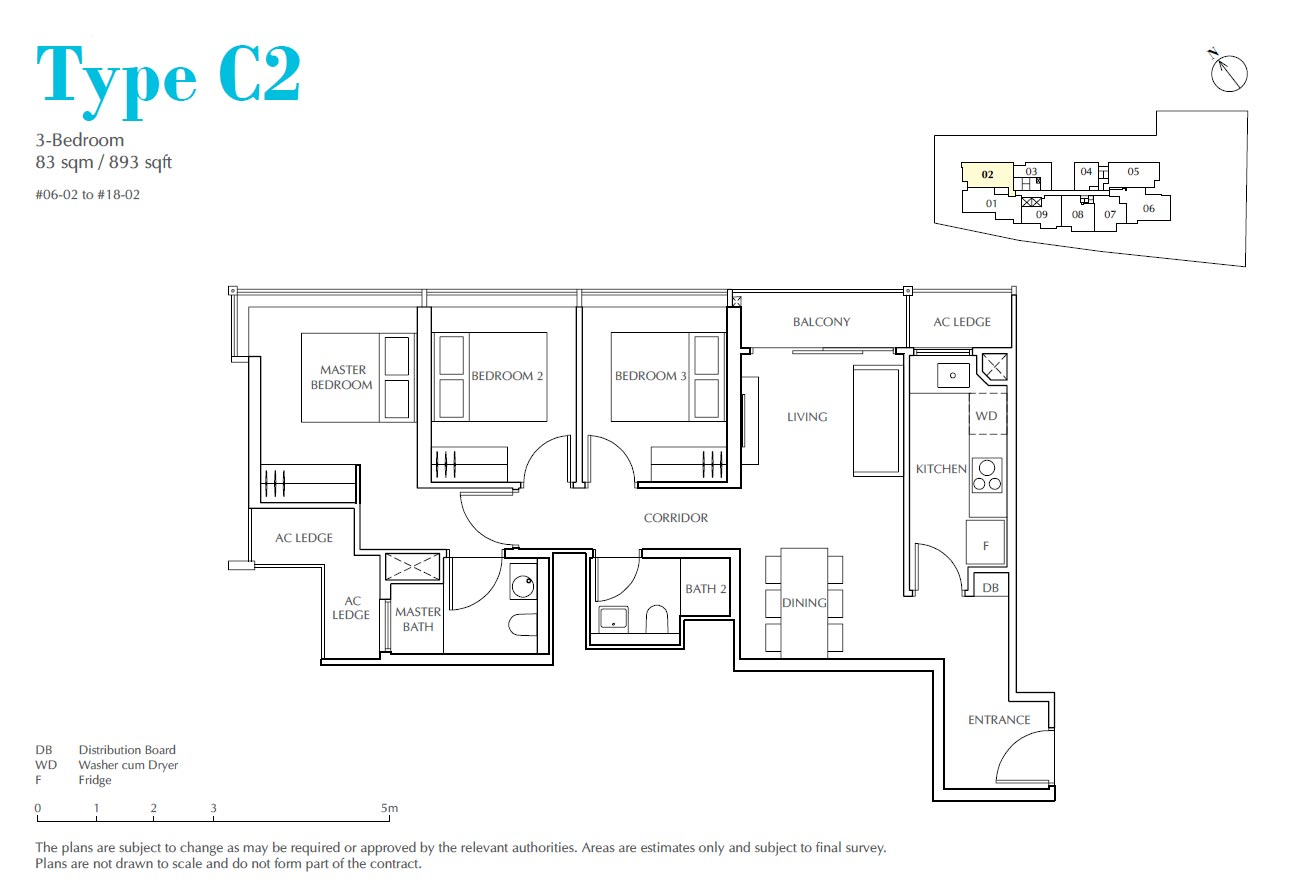 Jui Residences 3 Bedroom Type C2
