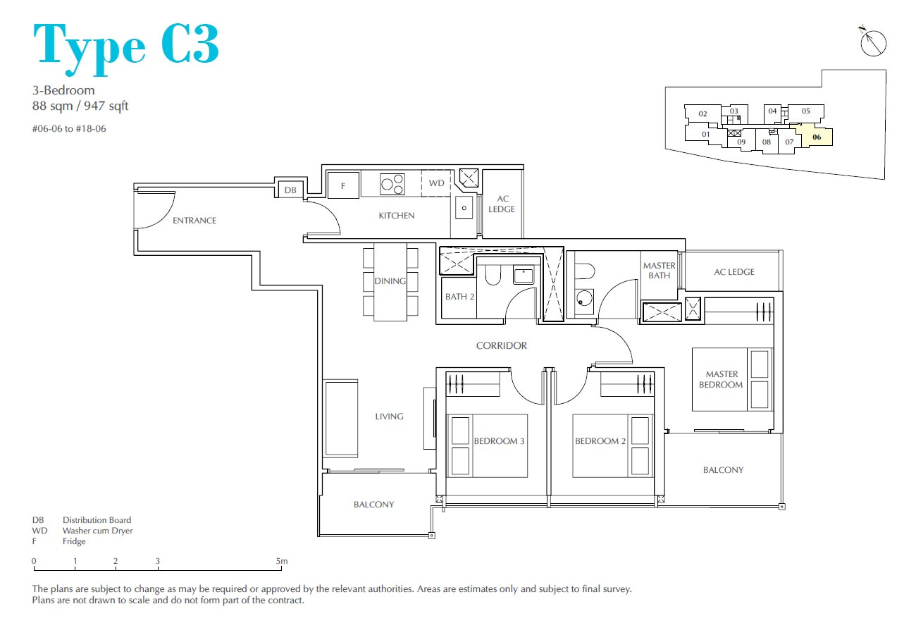 Jui Residences 3 Bedroom Type C3