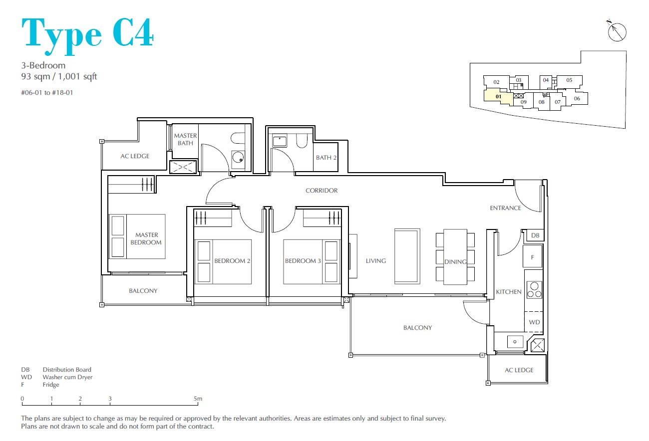 Jui Residences 3 Bedroom Type C4
