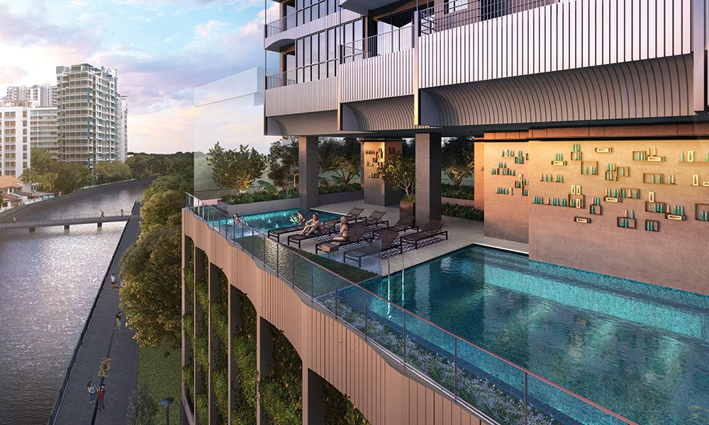 Jui Residences Pool Landscape