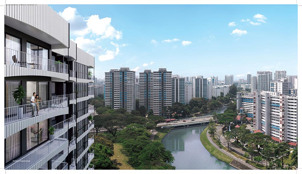Jui Residences River Facade